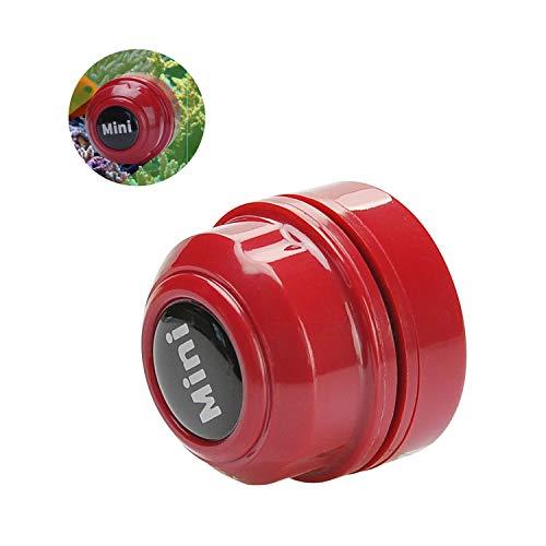 TOWEAR mini spazzola magnetica per acquario, detergente per acquario, detergente per vetri per acquario, mini magnete portatile resistente, pulizia per la rimozione di acquari e alghe (rosso)