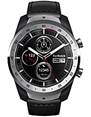 Ticwatch Pro Premium Smartwatch with Layered Display for Long Battery Life, NFC Payment and GPS Build-in, Wear OS by Google, Compatible with iOS and Android (Silver)