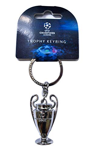 UEFA Champions League-Llavero Trofeo 3D Unisex Adulto Silver, 10 cm