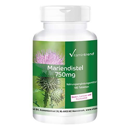 Cardo Mariano 750mg – 80% de silimarina – vegano – 180 comprimidos para 6 meses