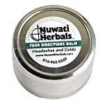 Healing Balm Pain Relief for Headache and Cold - Nuwati Herbals Four Directions Balm - Blend of Remedy Herbs with Eucalyptus, Camphor, and Menthol, 4 Ounces