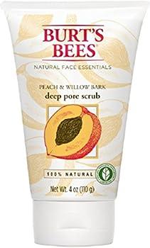 Burts Scrub Peach/Wlbk Size 4.Z Burt S Bees Peach And Willowbark Deep Pore Scrub