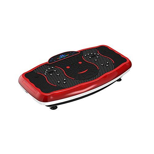 ZHYJJ Pedana Vibrante E Oscillante con Motore 4D Potente E Facile da Usare con Massaggio Magnetico Superficie Curva Confortevole Altoparlanti Bluetooth 4.0 Motori Silenziosi,Red