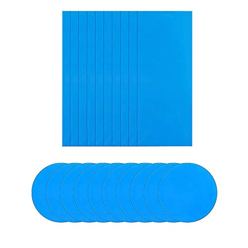 YTATY Waterproof Azurely Inflatable Pool Self-Adhesive Repair Patch Plastic PVC Repair Patches Kit for Swimming Pools, Tent, Kayak, Inflatable Boats, Airbeds, Mattresses, Buoys, Toys (10 R10 C)