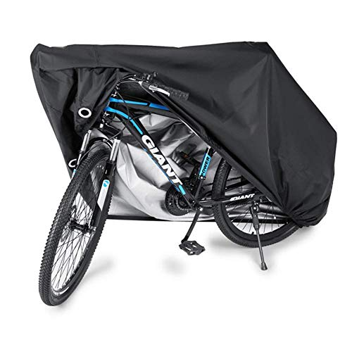 DXDUI Cubierta De Bicicletas, Impermeable 190T Oxford Tela Garaje De Bicicleta Plano, Protección contra La Lluvia del Polvo Festivo De Invierno