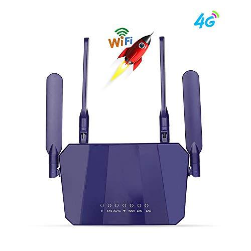 Router Draadloze CPE Routers Ontgrendeld Wifi Router Poorten Sim Card Slot (Kleur : A)