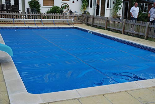 International Cover Pool Cobertor Solar para Piscinas 4x9 Metros (Ribeteado o con orillo en Todo el Contorno) 500 micras Espesor Geo Bubble