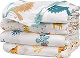 Manta de muselina para envolver al bebé – 4 unidades de bambú de algodón para envolver al bebé – Manta suave para bebé