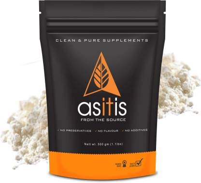 AS-IT-IS Nutrition Whey Protein Concentrate 80% Unflavoured (500Gm)