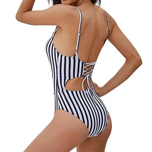 heekpek Costumi Mare da Donna Due Pezzi Costume da Bagno Sexy Trikini Halter Regolabile Gilet Bikini Set Triangolo Swimsuit Beachwear