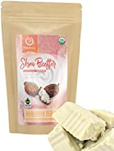 Unrefined Shea Butter - USDA Organic, African, Raw, 100% Pure,Grade A & Handmade. Use Alone or in DIY Body Butters, Lotions, Soap, Eczema & Stretch Mark Creams & Skin Care - 1 LB. (16 Oz.)