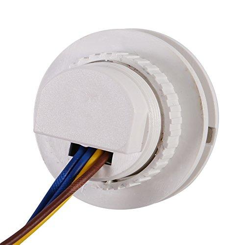 Interruptor de infrarrojos, luz del sensor de movimiento 85~265V 120 grados 45 segundos Retraso Apague el tiempo de plástico