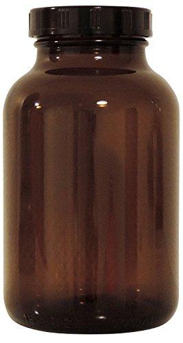 Mikken braunes Apothekerglas 1x 1000ml mit Schraubverschluss, made in Germany