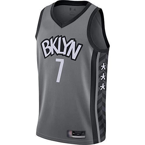CJQH Camiseta de baloncesto al aire libre Kevin Durant #7 Brooklyn Nets Jersey-Statement Edition repetible limpieza entrenamiento camisa para hombres - gris