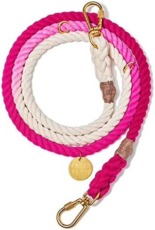 Found My Animal Magenta Ombre Cotton Rope Dog Leash Adjustable Large product image
