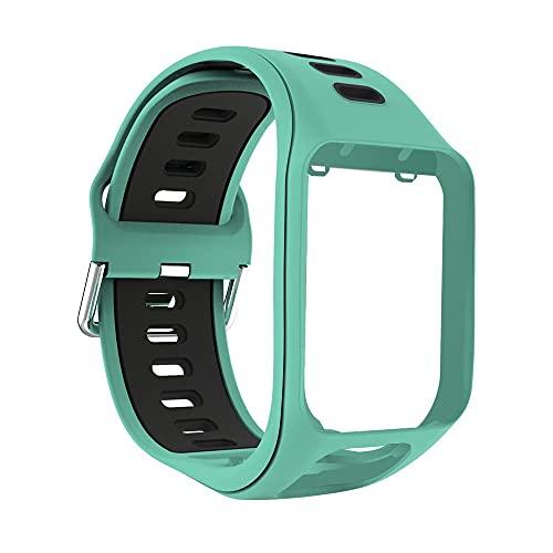 Cinturino da Polso per Tomtom 2 3 Runner Spark Adventurer per Golfer 2 Cinturino di Ricambio Cinturino Morbido Cinturino in Silicone Accessori droni (Color : H)