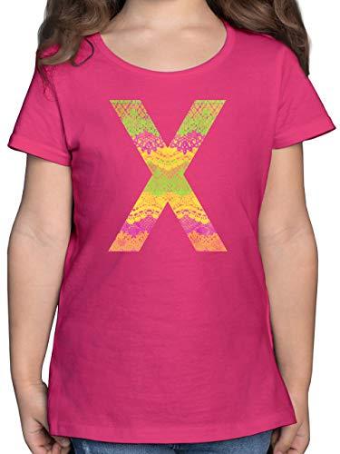 Up to Date Kind - Neon Lace X - 152 (12/13 Jahre) - Fuchsia - F131K_Shirt_Mädchen - F131K - Mädchen Kinder T-Shirt