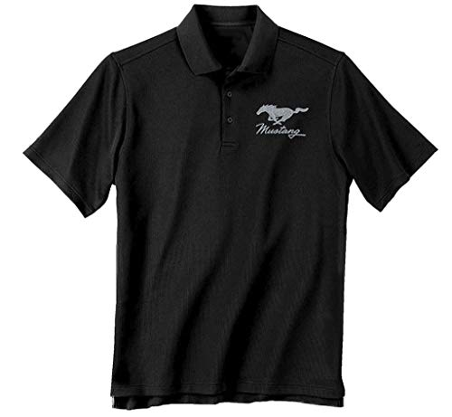 Mustang 3X Cotton Ford Polo Shirt Black Adult Men's Women's Short Sleeve Polo...