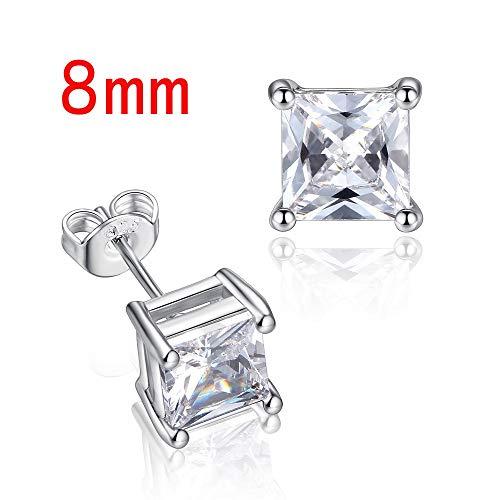 YHQXYUN Simple Aretes Cuadrados Diamante De Imitación Joyería De Moda Pendientes For Mujer Hombre