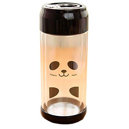 randonnée/marche/camping bouteille sport verre, 230 ml/rouge[joli panda]