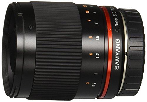 Samyang SY300M-M-BK 300mm F6.3 Mirror Lens for Canon M Mirrorless Interchangeable...