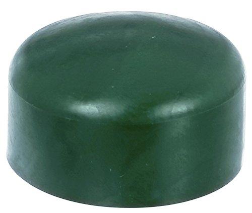4 x Zaunkappe grün 59-60 mm, Pfostenkappe für runde Metallpfosten, grün, Rohrkappen, Abdeckkappe für Zaun Zäune, Runde Abdeckkappe
