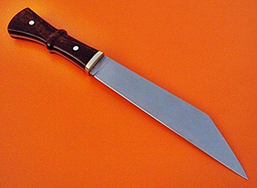 REG-HKJ 310 - Custom Handmade High Carbon Steel SEAX Knife - Stunning Rose Wood Handle