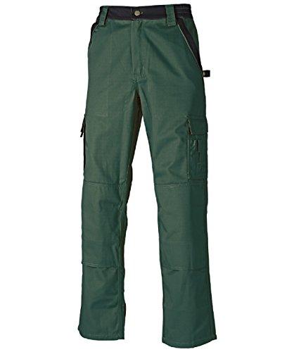 Dickies Arbeitshose,Robuste Industry-Serie,300g/m Größen, Bundhose aus 65% Polyester/35% Baumwolle (106, Grün/Schwarz)