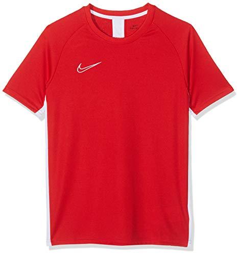 Nike Jungen B NK DRY ACDMY TOP SS, T-shirt Rot (University Red/White), L