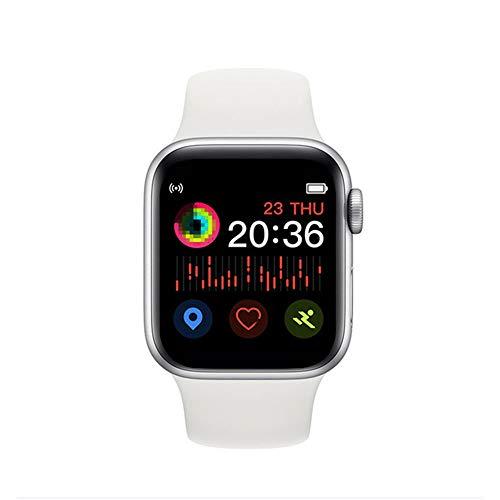 Smartwatch, 3,8 cm (1,54 Zoll), T500, 44 mm, Herzfrequenz-Monitor, für Herren und Damen, Smartwatch für iOS iPhone 11, Android Handy, PK IWO 11, 10, 8, IWO 12 Pro Drop Ship (weiß)