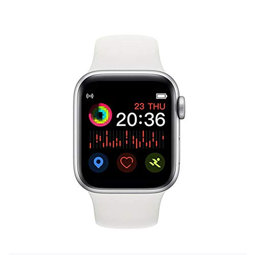 Smartwatch, 3,8 cm (1,54 Zoll), T500, 44 mm, Herzfrequenz-Monitor, für Herren und Damen, Smartwatch für iOS iPhone 11, Android Handy, PK IWO 11, 10, 8, IWO 12 Pro Drop Ship (weiß)
