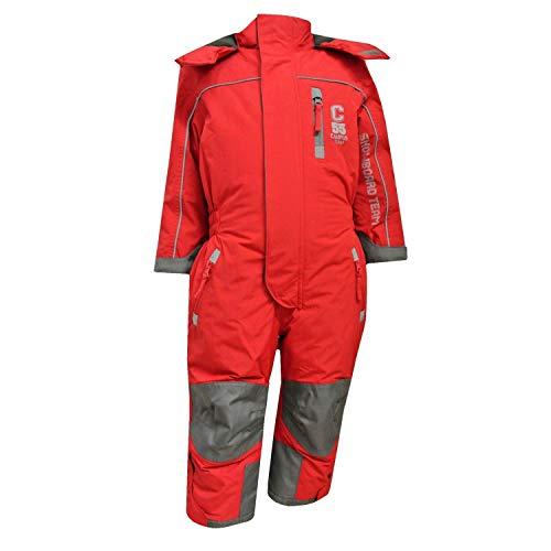 Outburst - Mädchen Schneeoverall Overall 10.000 mm Wassersäule, rot,Größe 98