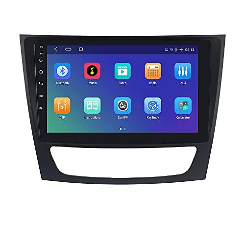 hizpo Android 10 Autoradio Bluetooth para Mercedes-Benz E Class W211/ CLS-Class W219/ G-Class W463 Control del Volante Wi-Fi 4G LTE Cámara Trasera Dab+