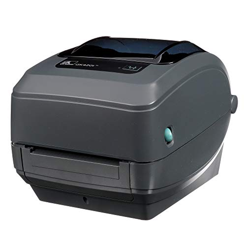 Zebra - GK420t Thermal Transfer Desktop Printer for labels, Receipts, Barcodes, Tags, and Wrist Bands - Print Width of 4 in - USB, Serial, and Parallel Connectivity - GK42-102510-000