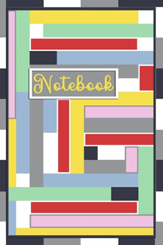 Color Block 6X9 Notebook/Journal (narrow): 128-blank college-ruled pages
