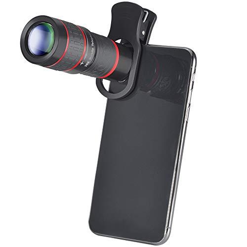 WQYRLJ 20X Zoom Telelens 4K HD Monoculaire Telescoop Telefoon Camera Lens voor Iphone Xs Max XR X 8 7 Plus Samsung Smartphone Mobile