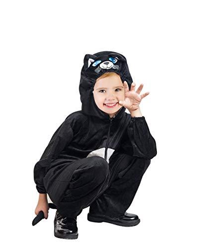 Seruna Katzen-Kostüm, F126/00 Gr. 92-98, für Babies Klein-Kinder, Katzen-Kostüme Katze für Klein-Kinder Fasching Karneval, Karnevalskostüme, Kinder-Faschingskostüme, Geburtstags- Weihnachts-Geschenk