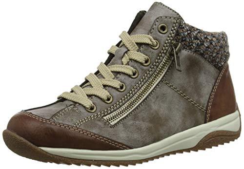 Rieker Damen L5223-24 Hohe Sneaker, Braun (Brandy/Cigar/Terra 24), 39 EU