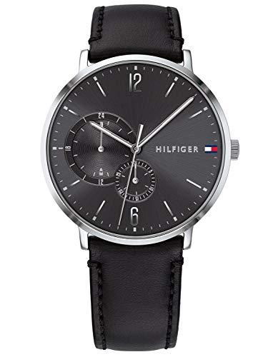 Tommy Hilfiger Herren Multi Zifferblatt Quarz Uhr mit Leder Armband 1791509