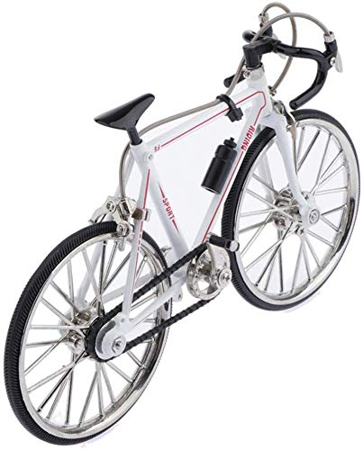 Racing Bike Model Alloy Simulated Road Bicycle Vehicle Statue, Home Office Desktop Table Display Decoration
