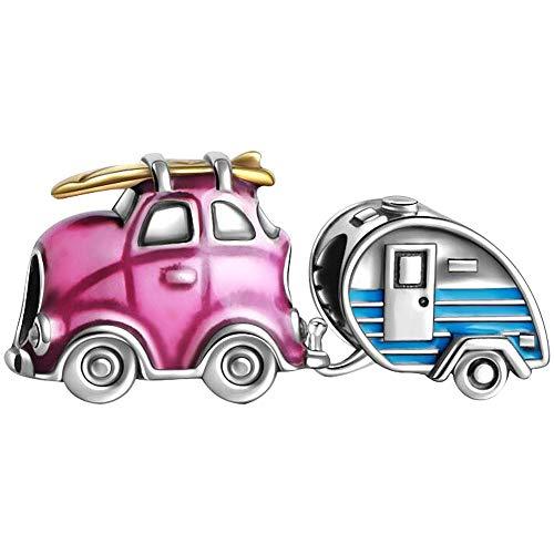 Soufeel Reise Charms*2 Auto Trailer Set 925 Sterling Silber Charm Bead für Damen