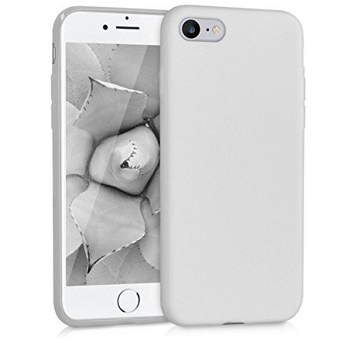 kwmobile Cover Compatibile con Apple iPhone 7/8 / SE (2020) - Custodia in Silicone TPU - Backcover Protezione Posteriore- Grigio Chiaro Opaco