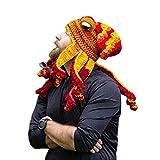 Sombrero de pulpo cálido de invierno, gorro de punto de pulpo de tentáculo,...
