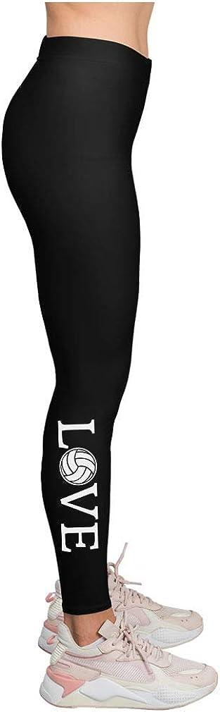 Love Volleyball Leggings for Women Teen Girls Gift for Volleyball Fans Leggings