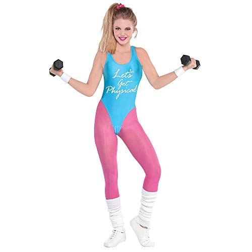 amscan 843079-55 80er Jahre Damen Let's Get Physical Kostüm Set, Erwachsene 10-12