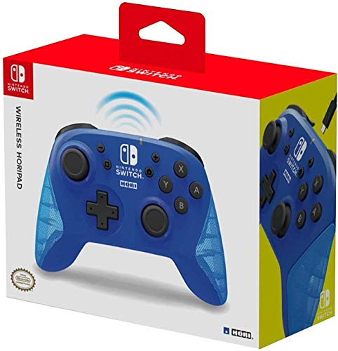 Hori Controller Horipad Wireless (Blu) - Ufficiale Nintendo - Nintendo Switch