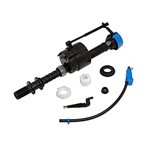Replacement part Universal fluid master 400A replacement fill valve Water control assembly Includes valve, shank washer, lock and coupling nuts Includes coupling washer, refill tube and refill tube clip