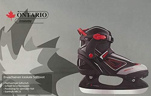 california products Ontario Schlittschuhe Erwachsenen Iceskates Schnellverschluss Gr. 41 schwarz NEU