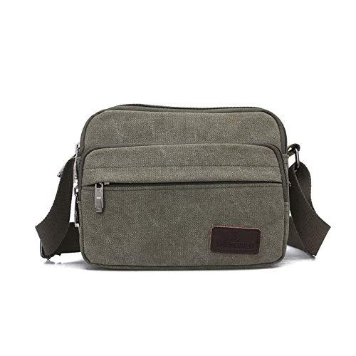 Norston Canvas Crossbody Bag Messenger Bag Satchel Shoulder Sling Working Bag Bookbag Briefcase for Men and Women (Black 1)
