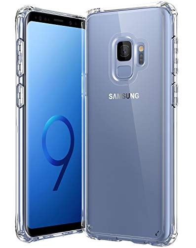 Samsung Galaxy S9 Case,[Airbag Series] [ Military Grade ] | 15Ft. Drop Tested | [Scratch-Resistant] | Wireless Charging | for Samsung Galaxy S9 - Clear